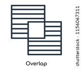 overlap icon vector isolated on ...   Shutterstock .eps vector #1156067311