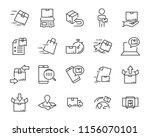 set of sending product icons  ... | Shutterstock .eps vector #1156070101