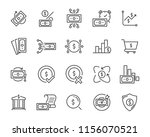 set of money icons  such as... | Shutterstock .eps vector #1156070521
