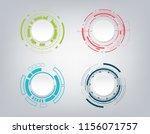 abstract technology... | Shutterstock .eps vector #1156071757