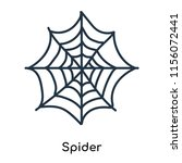 spider icon vector isolated on... | Shutterstock .eps vector #1156072441
