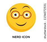 nerd icon vector isolated on... | Shutterstock .eps vector #1156072531