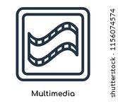 multimedia icon vector isolated ...   Shutterstock .eps vector #1156074574