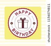 happy birthday design template. ... | Shutterstock .eps vector #1156074811