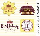 happy birthday design template. ... | Shutterstock .eps vector #1156074814