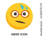 nerd icon vector isolated on... | Shutterstock .eps vector #1156075174