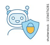 secured chatbot color icon.... | Shutterstock .eps vector #1156076281
