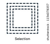 selection icon vector isolated... | Shutterstock .eps vector #1156078357