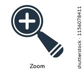 zoom icon vector isolated on...   Shutterstock .eps vector #1156078411