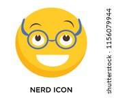 nerd icon vector isolated on... | Shutterstock .eps vector #1156079944