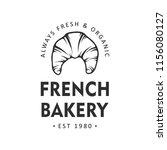 vintage style bakery shop label ... | Shutterstock .eps vector #1156080127