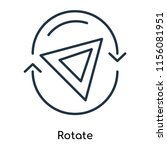 rotate icon vector isolated on... | Shutterstock .eps vector #1156081951
