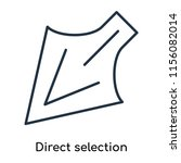 direct selection icon vector... | Shutterstock .eps vector #1156082014
