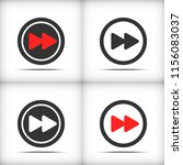 forward video button icon set...   Shutterstock .eps vector #1156083037