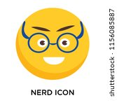 nerd icon vector isolated on... | Shutterstock .eps vector #1156085887