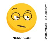 nerd icon vector isolated on... | Shutterstock .eps vector #1156086094