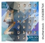 font lowpoly on abstract... | Shutterstock .eps vector #1156088764