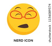 nerd icon vector isolated on... | Shutterstock .eps vector #1156089574