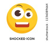 shocked icon vector isolated on ... | Shutterstock .eps vector #1156089664