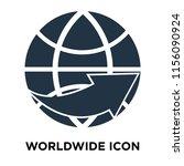 worldwide icon vector isolated... | Shutterstock .eps vector #1156090924