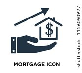 mortgage icon vector isolated... | Shutterstock .eps vector #1156090927