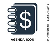 agenda icon vector isolated on... | Shutterstock .eps vector #1156091041