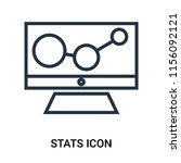 stats icon vector isolated on... | Shutterstock .eps vector #1156092121