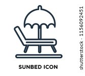 sunbed icon vector isolated on... | Shutterstock .eps vector #1156092451
