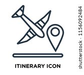 itinerary icon vector isolated... | Shutterstock .eps vector #1156092484