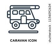 caravan icon vector isolated on ... | Shutterstock .eps vector #1156092634