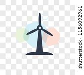 wind mill vector icon isolated... | Shutterstock .eps vector #1156092961