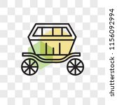 carriage vector icon isolated... | Shutterstock .eps vector #1156092994