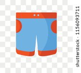 shorts vector icon isolated on... | Shutterstock .eps vector #1156093711
