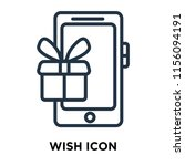wish icon vector isolated on... | Shutterstock .eps vector #1156094191
