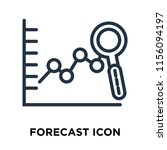 forecast icon vector isolated... | Shutterstock .eps vector #1156094197
