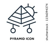 pyramid icon vector isolated on ... | Shutterstock .eps vector #1156094374