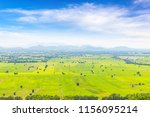 beautiful landscape of rice... | Shutterstock . vector #1156095214