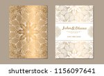 save the date invitation card... | Shutterstock .eps vector #1156097641
