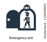 emergency exit icon vector...   Shutterstock .eps vector #1156098691
