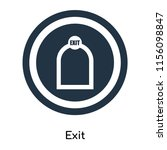 exit icon vector isolated on... | Shutterstock .eps vector #1156098847