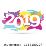 banner   happy new 2019 year | Shutterstock .eps vector #1156100227