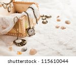 Vintage Background With Watch....
