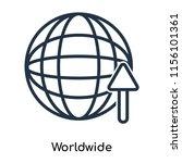 worldwide icon vector isolated... | Shutterstock .eps vector #1156101361