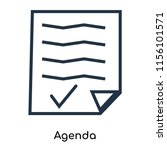agenda icon vector isolated on... | Shutterstock .eps vector #1156101571
