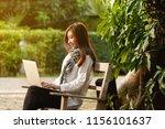 beautiful young teenage woman... | Shutterstock . vector #1156101637