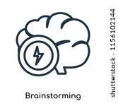 brainstorming icon vector... | Shutterstock .eps vector #1156102144