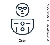 geek icon vector isolated on... | Shutterstock .eps vector #1156102207