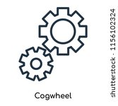 cogwheel icon vector isolated... | Shutterstock .eps vector #1156102324