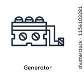 generator icon vector isolated...   Shutterstock .eps vector #1156103281