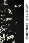 miracle musical notes on black... | Shutterstock .eps vector #1156103824